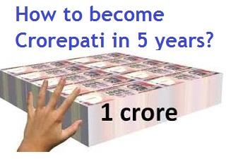 How become Crorepati 1 year, 5 years, 15 years and 20 years