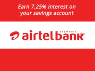 Airtel Payment Bank offers Highest Interest on SB Accountc