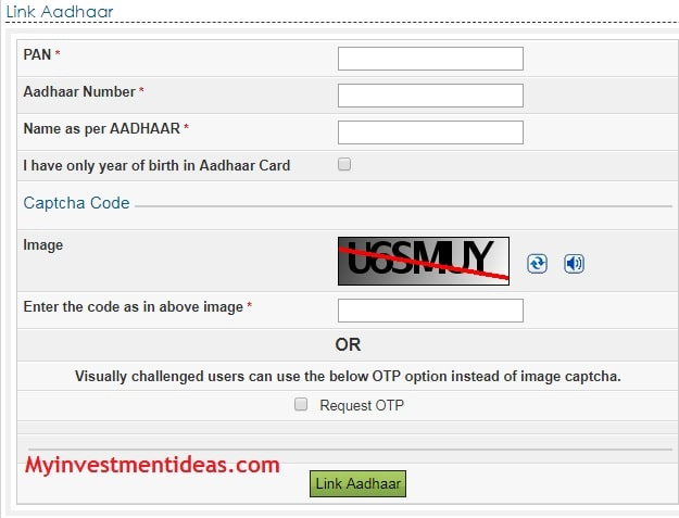 Method-1 of How to link Aadhaar Card and PAN Card in India