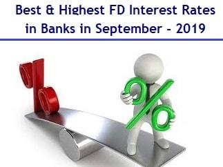 Best Highest Fixed Deposit Interest Rates in Banks in September-2019-min