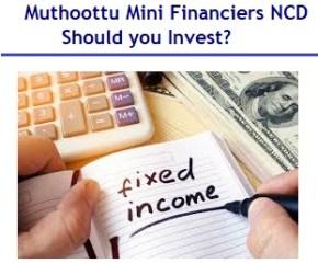 Muthoottu Mini Financiers NCD Aug 2019 Review