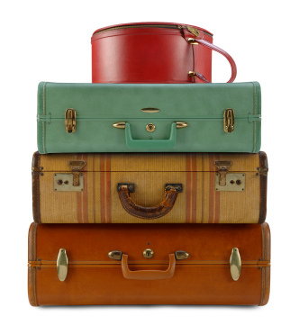 Travelling with Invisalign - pack your aligners! Image of suitcases