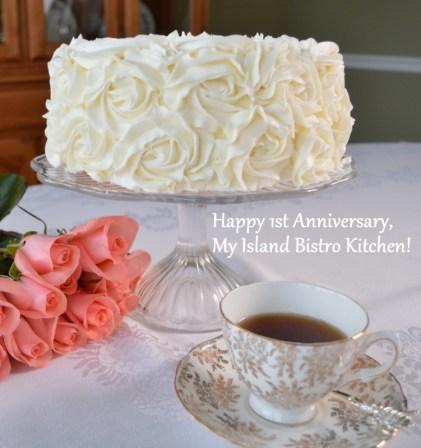 My Island Bistro Kitchen 1st Anniversary Cake