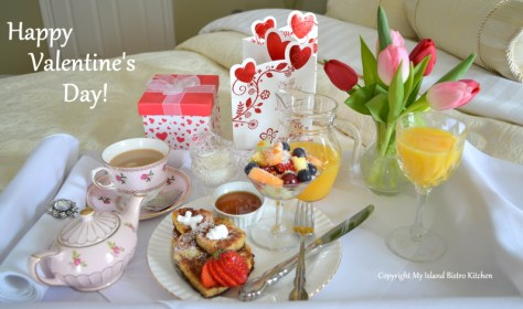 Valentine's Day Breakfast in Bed Tray