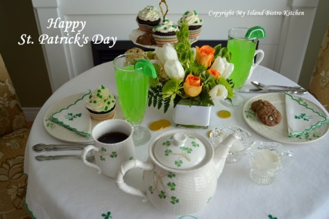 St. Patrick's Day Afternoon Tea Setting