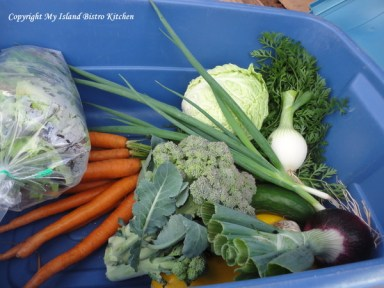 CSA Box of Vegetables from Jen and Derek's Organic Farm