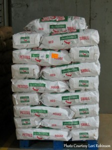 Pallet of Potatoes Graded, Washed, and Packed Ready for Shipping