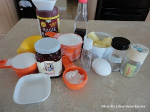 Ingredients for Jam Squares