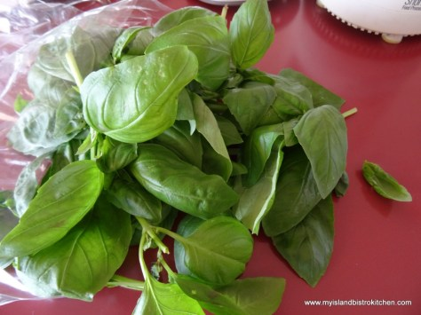 "Fresh Organic Basil from ""Just A Little Farm"", Bonshaw, PEI"