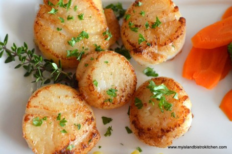Pan-seared PEI Scallops