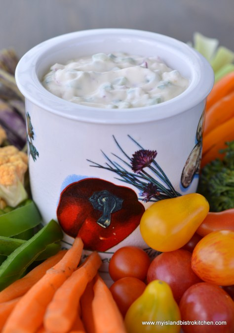 Summer Garden Vegetable Dip