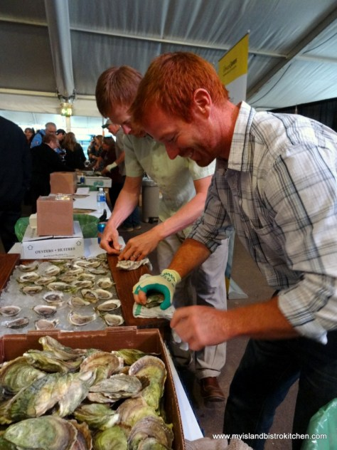 Oyster Shucking at the PEI International Shellfish Festival