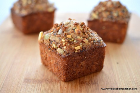 "Granola Muffins from Chef Michael Smith's ""Family Meals"" Cookbook....made in my square muffin tins"