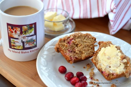 Cranberry-Banana and Eggnog Muffin