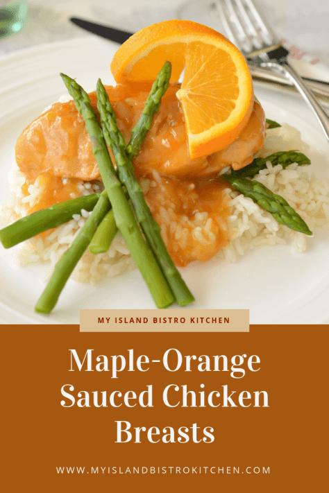 Maple-Orange Sauced Chicken Breasts