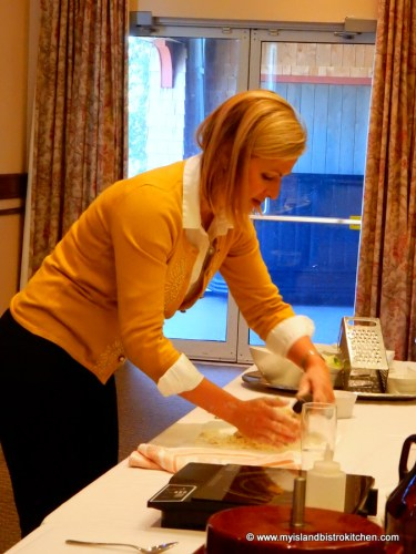 Chef Anna Olson Demonstrating How to Make Scones