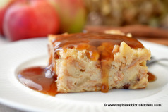 Apple-Maple Bread Pudding with Maple Sauce