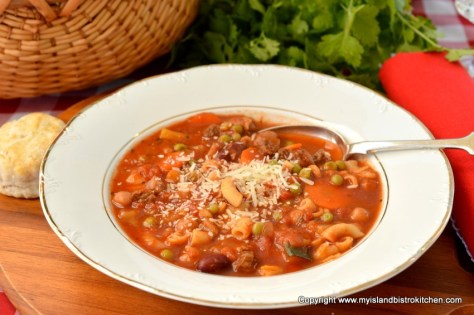 The Bistro's Beefy Minestrone Soup