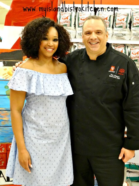Tracy Moore and Chef Tom Filippou