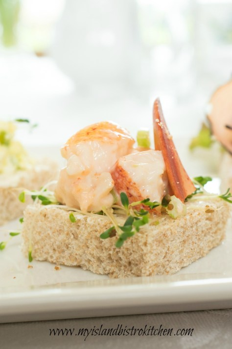Open-faced Lobster Tea Sandwich