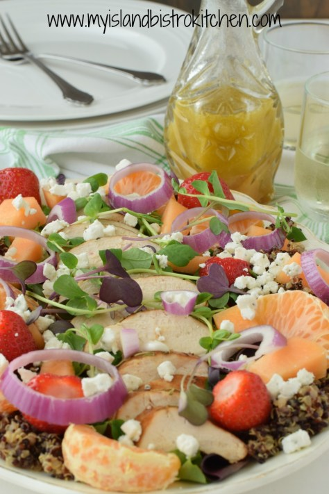 Chicken and Quinoa Salad with Orange Star Anise Vinaigrette