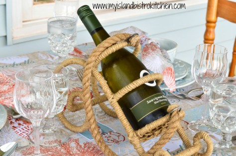 Nautical-themed Wine Bottle Holder