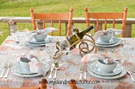 Summer Seashells Tablesetting