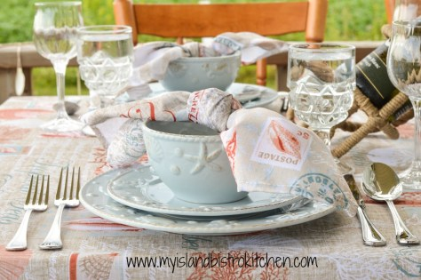 Summer Seashell Tablesetting