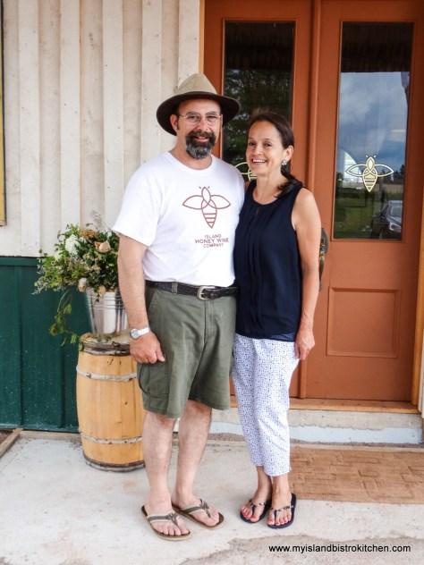 Charles and Laura Lipnicki, Owners of Island Honey Wine Company, Wheatley River, PEI, Canada