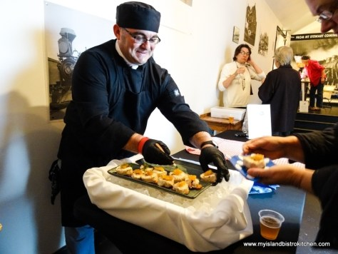 Chef, Amil Zavo, serving up Snow Crab Roulade