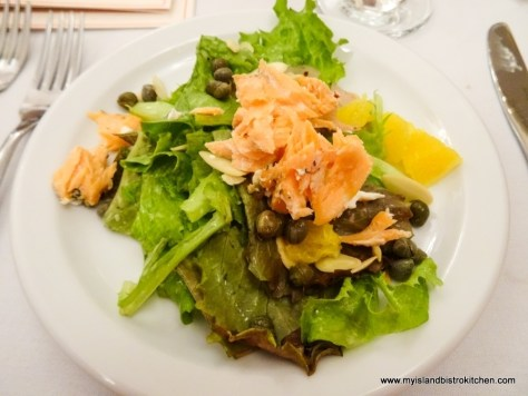 Salad with Smoked Island Trout