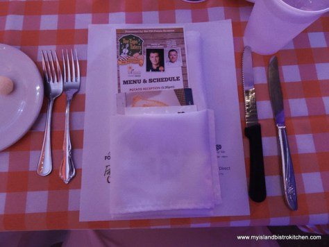 Placesetting at Toes, Taps, and Taters Dinner 2017