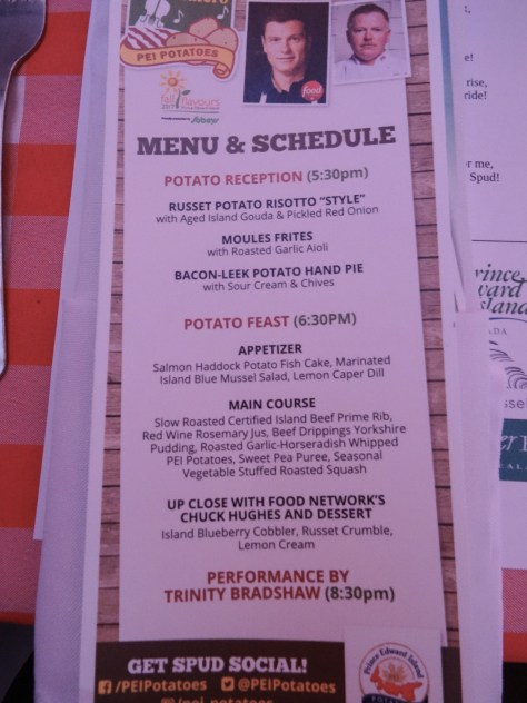 Menu for 2017 Toes, Taps, and Taters Dinner