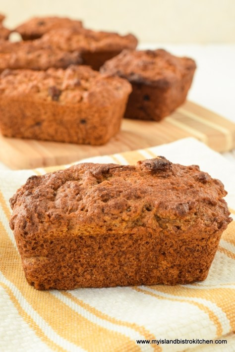 Gluten-free Pumpkin-Mincemeat Mini Loaves