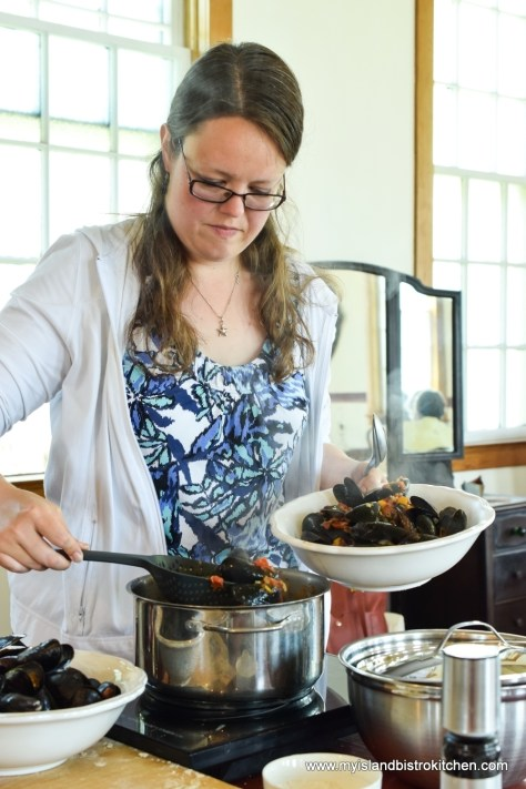 Steamed PEI Mussels at The Table Culinary Studio in New London, PEI