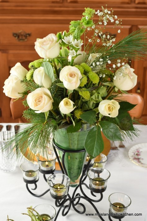 The Christmas Rose Centerpiece
