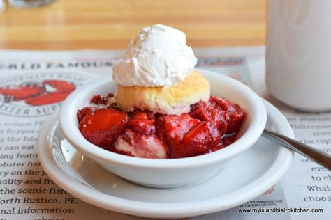 Strawberry Shortcake at Fisherman's Wharf Lobster Suppers