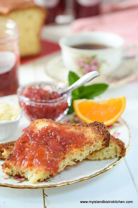 Rhubarb Marmalade on Toast