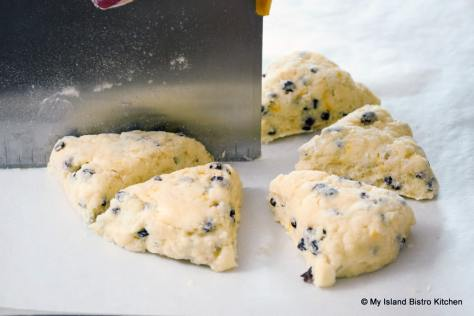 Cutting Wedge-shaped Scones
