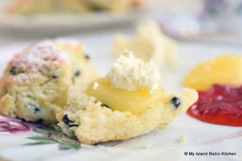Lemon Curd and English Double Cream on Scone