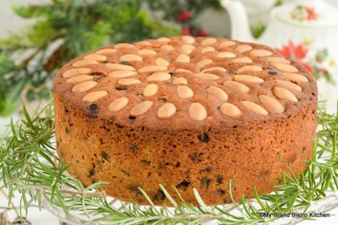 Dundee Cake with its iconic concentric circles of almonds on top
