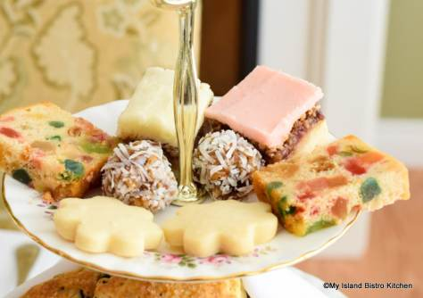 Cake, cookies, and squares for afternoon tea