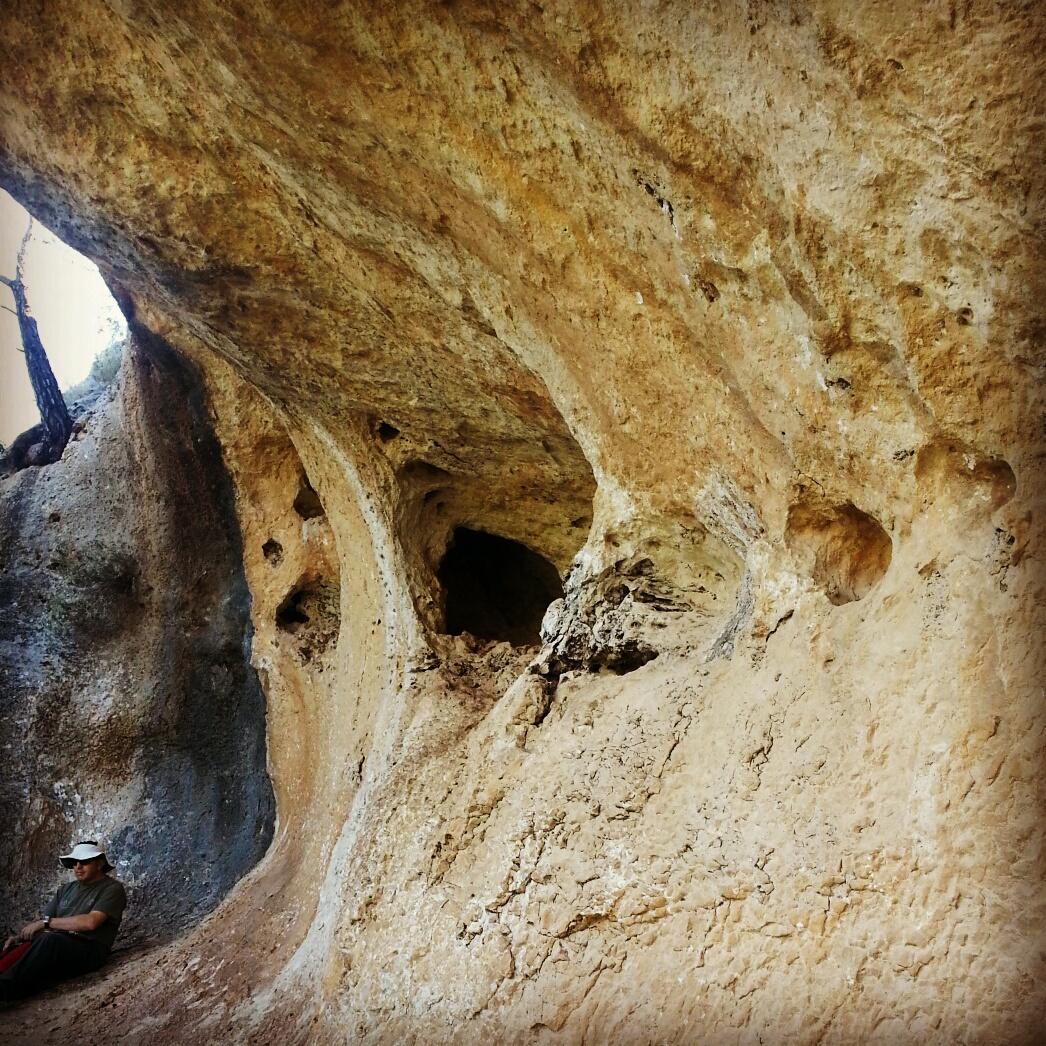 Limestone 'notch' (צניר) in Little Switzerland