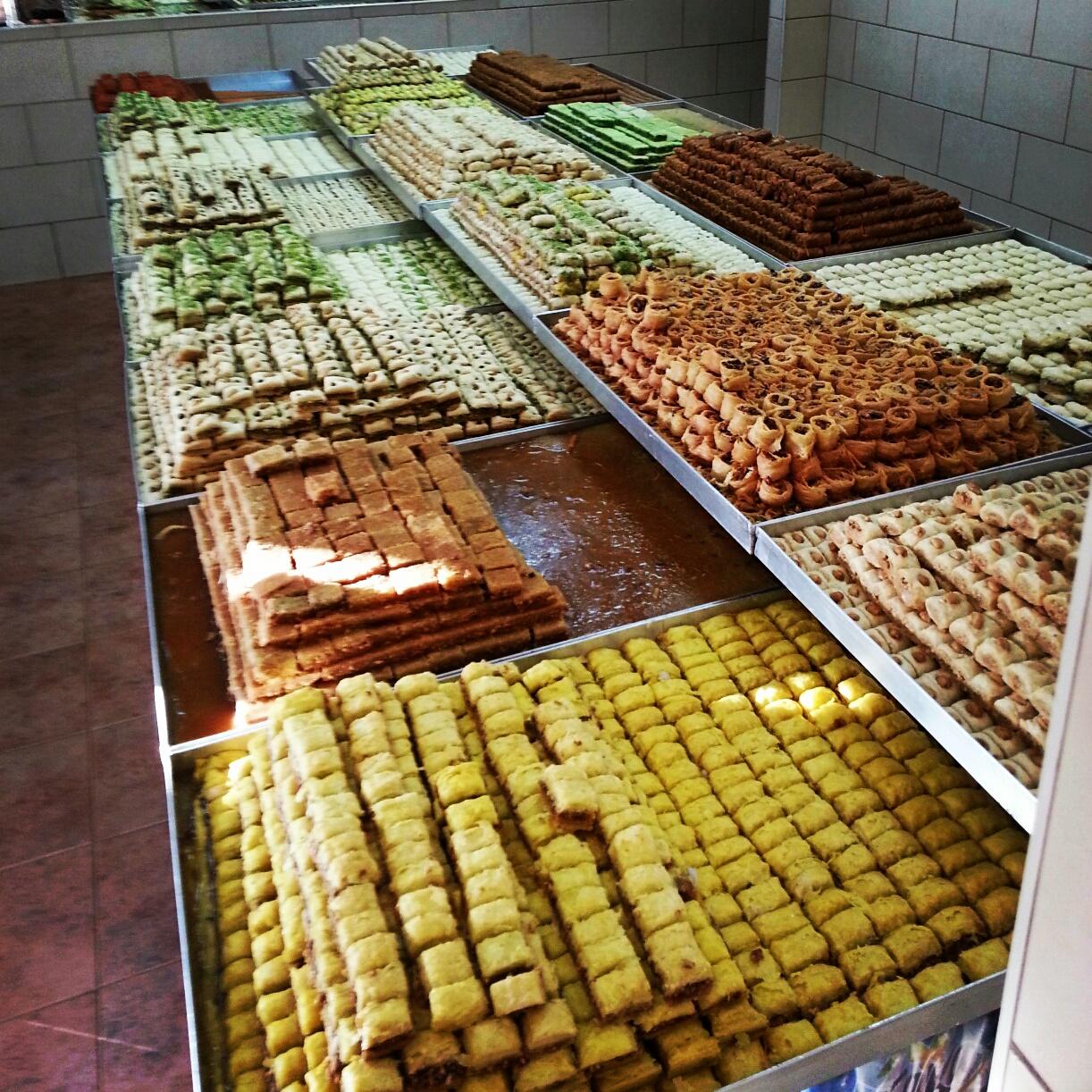 Traditional sweets in Daliyat-al-Carmel. Yum!