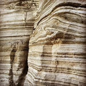 Layers of sedimentary rock in Nachal Peratzim