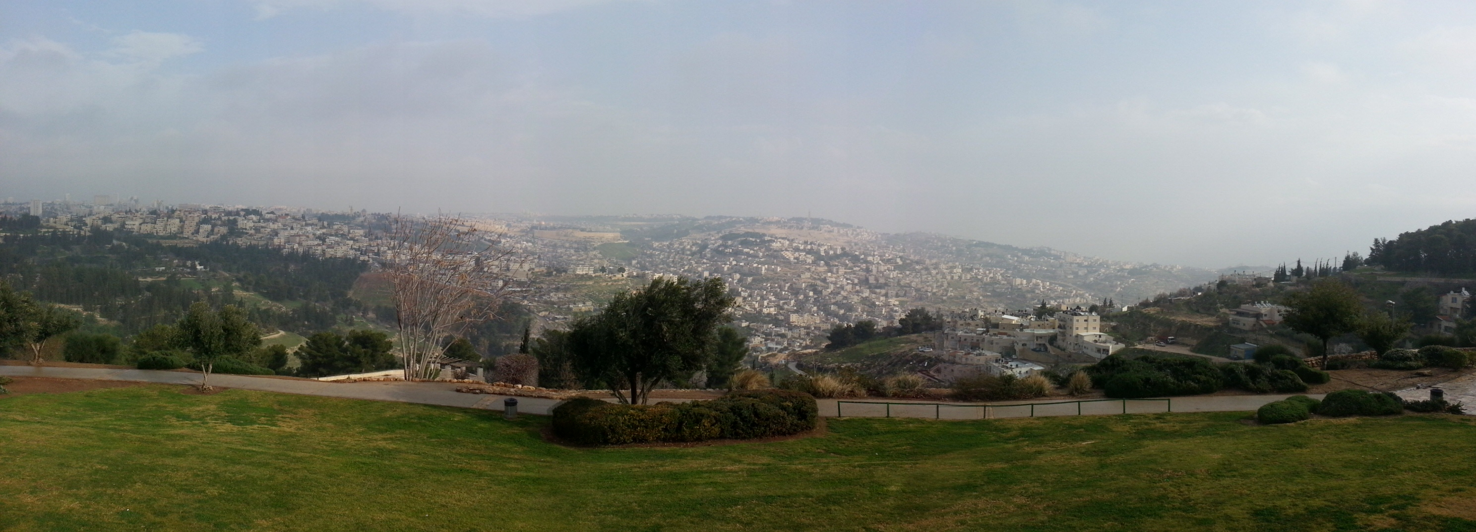 View north over Jerusalem from the Haas Promenade