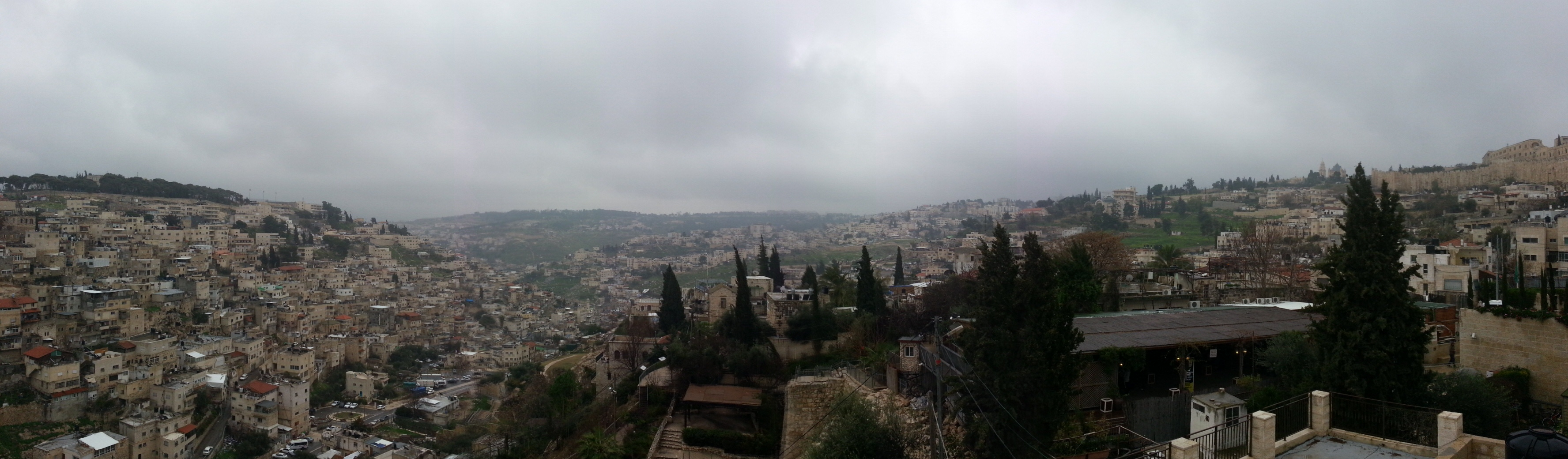 View from the top of the City of David over South and East Jerusalem