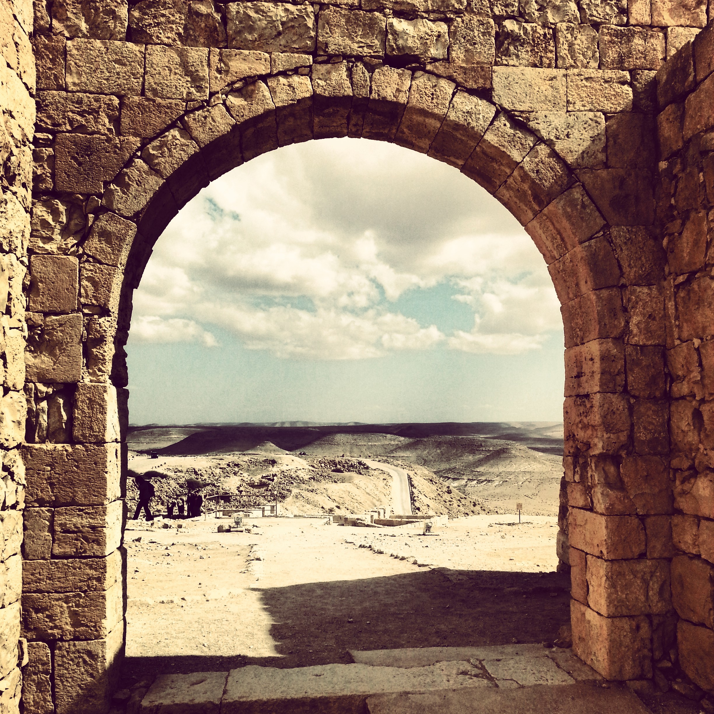 Avdat - view from within the fortified area