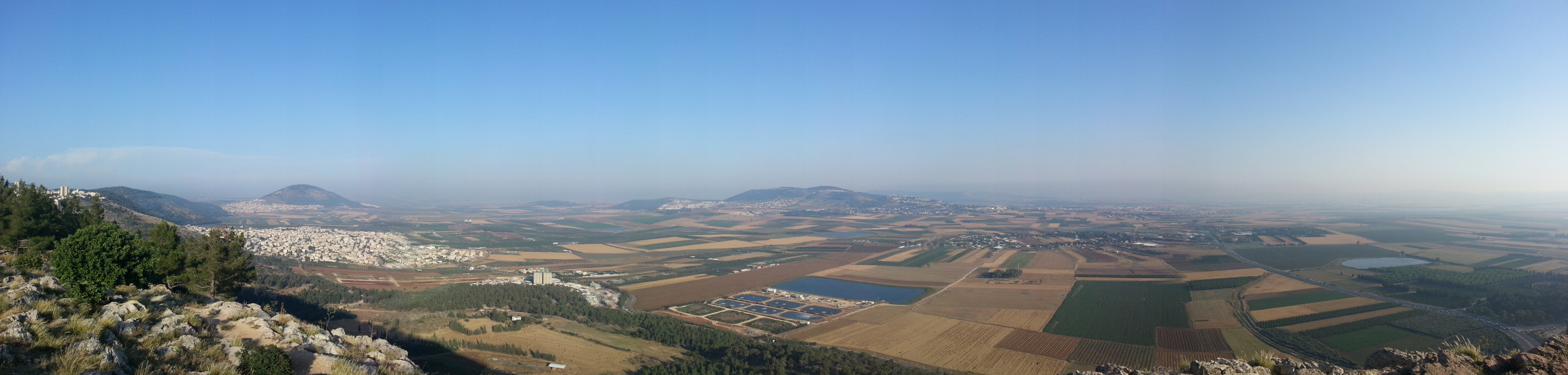 View over the Jezreel Valley from Mount Precipice