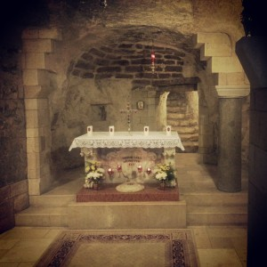 Mary's Home: inside the crypt at the Basilica of the Annunciation, Nazareth